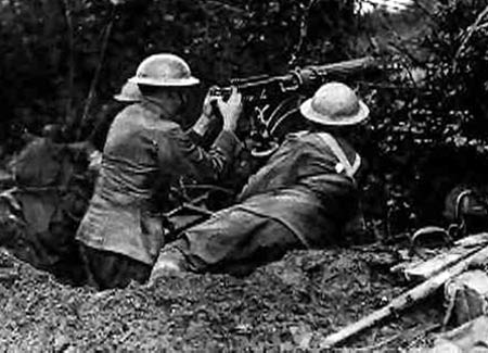 Vickers gun in action